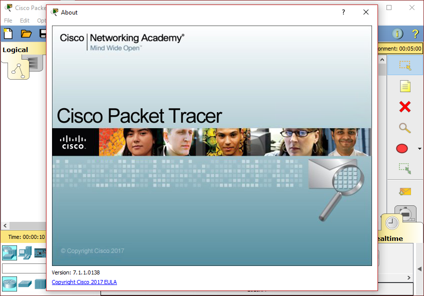 Where can I download Cisco Packet Tracer 7.1.1?